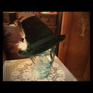 Green Velvet Hat